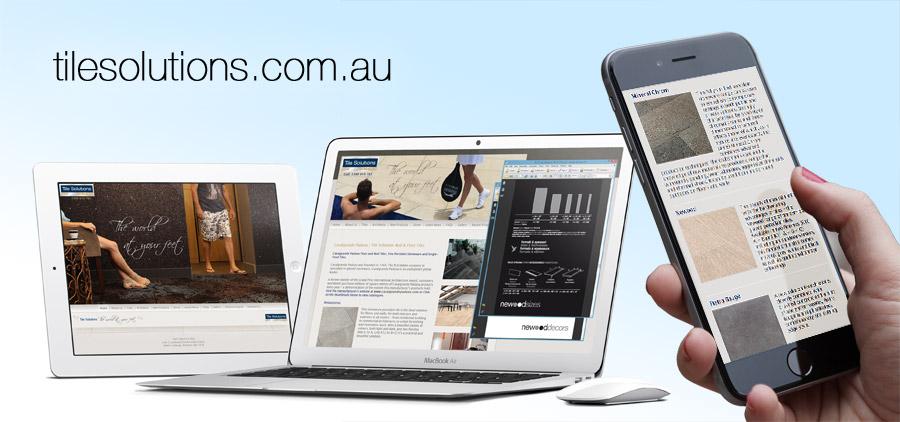 Tile solutions website design
