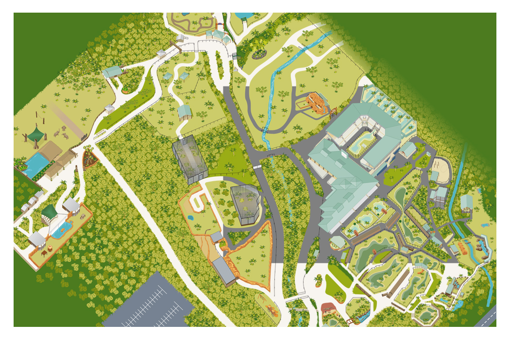 Australia Zoo Map Illustration