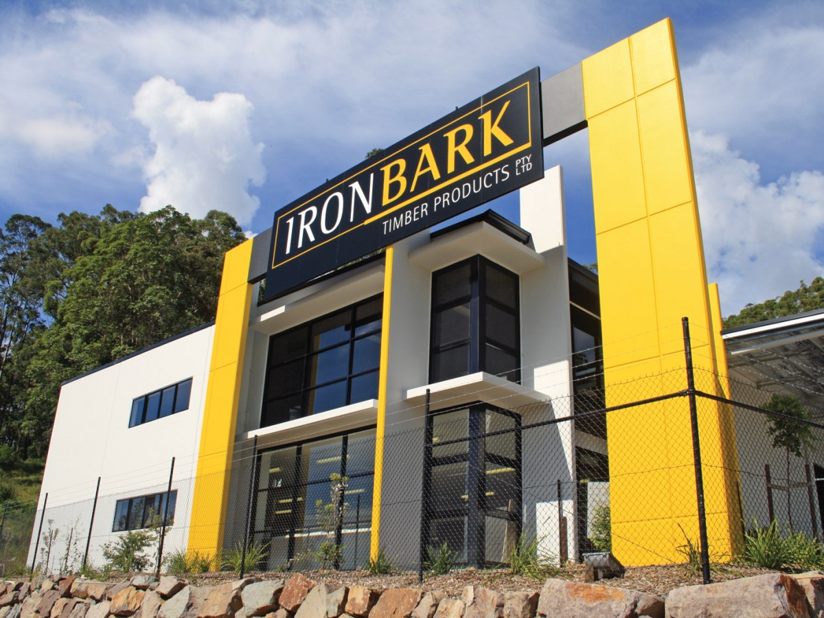 IronBark Timber Main Building Sign