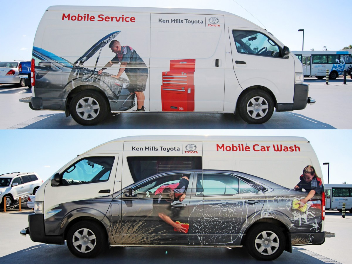 Ken Mills Toyota Car Wash Vehicle Wrap