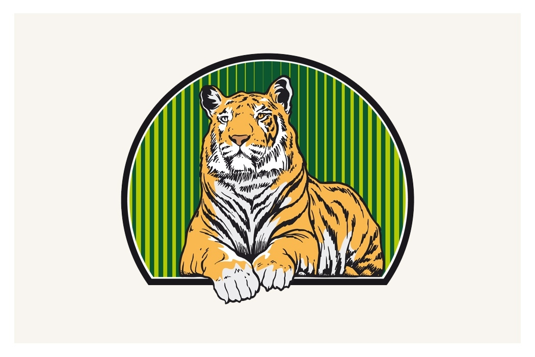 Tiger label Illustration