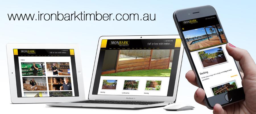 Ironbark Timber responsive website