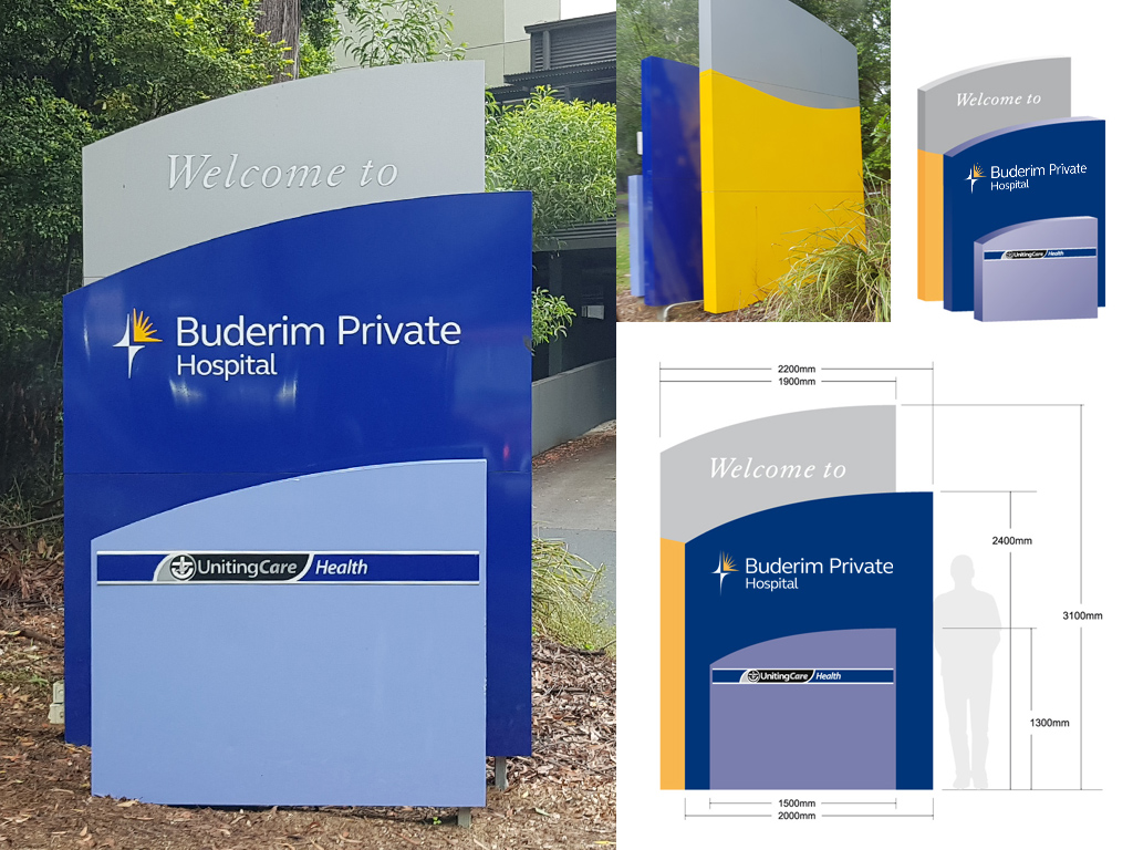 Buderim Private Hospital Main Entry Sign